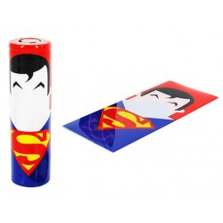 Batteri Wraps, 18650 - Superman