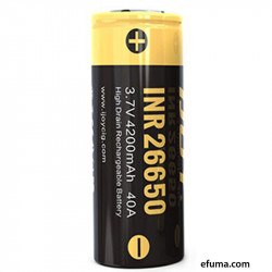 INR 26650 4200mAh High-Drain Batteri