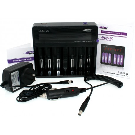 Efest LUC V6 LCD Multi-Function Charger - Chargers