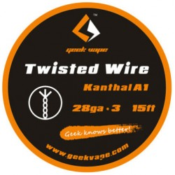 GeekVape Twisted Kanthal KA1 Wire (28GA X 3)  - Twisted Wire