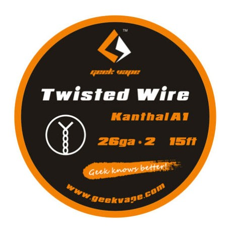GeekVape Twisted Kanthal KA1 Wire (26GA * 2)  - Twisted Wire