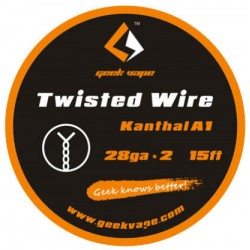 GeekVape Twisted Kanthal KA1 Wire (28GA * 2) - Twisted Wire