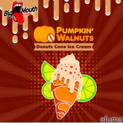 Pumpkin Walnuts - Donut Cone Ice Cream  - Big Mouth