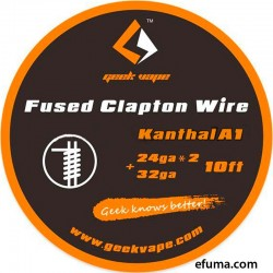 10ft Kanthal A1 Fused Clapton Wire, 24GAx2+32GA